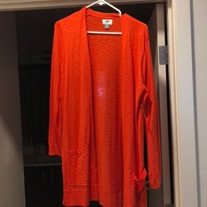 Old Navy large orange cardigan
